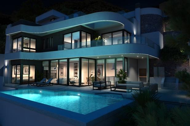 Villa with panoramic seaview, Altea Hills