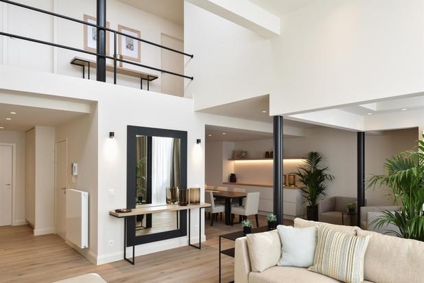 Appartement loft spacieux, 4 chambres à qqs pas de la mer, situation centrale.