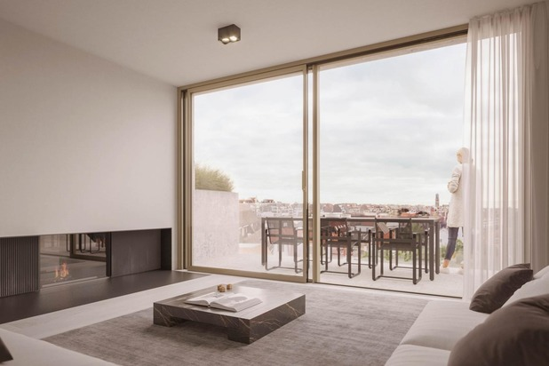 Nieuw, zuidgericht duplex dakapp. met prachtig open zicht over het Albertstrand, gelegen vlakbij het Rubensplein