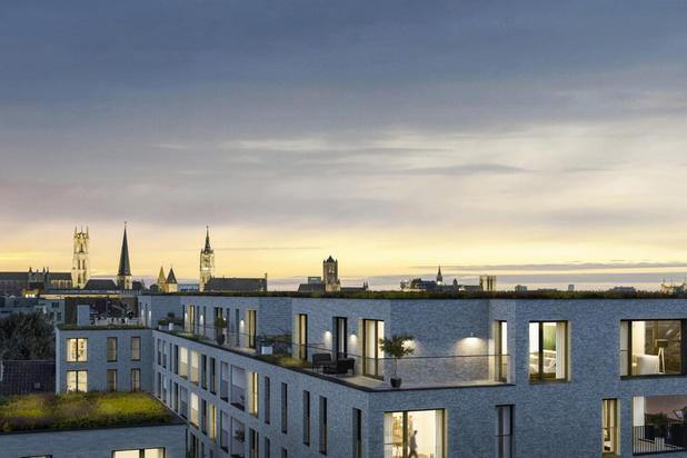 Unieke penthouse met 79 m² terras te Gent