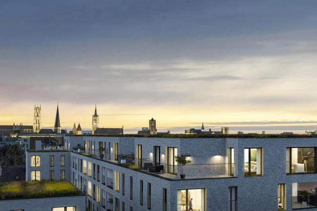 Unieke penthouse met 79 m² terras nabij het Baudelopark