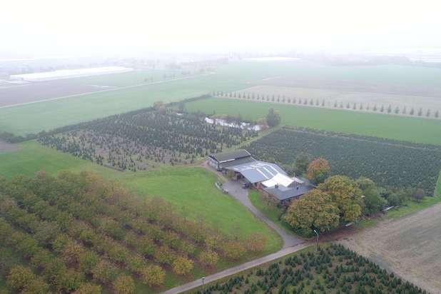 Hoeve met loodsen op een domein van 12 ha