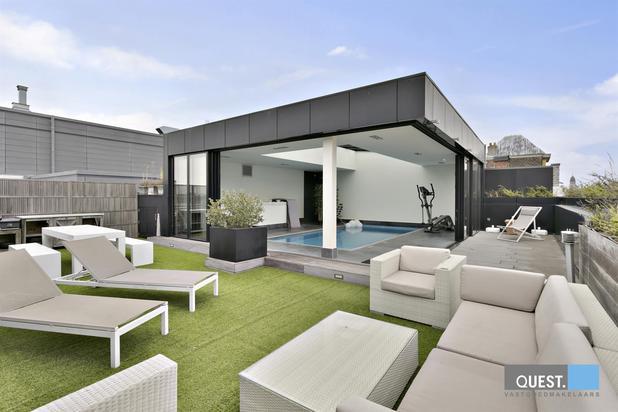 Unieke penthouse met zwembad en subliem Scheldezicht