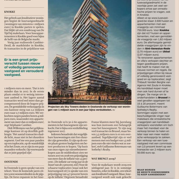 Knokke kampt met tekort aan het 'juiste' luxevastgoed