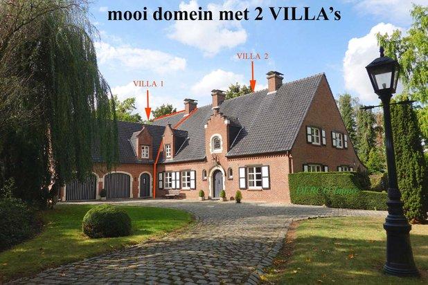 mooi GEHEEL van 2 villa's - zeer RUSTIGE en discrete ligging op 29 are