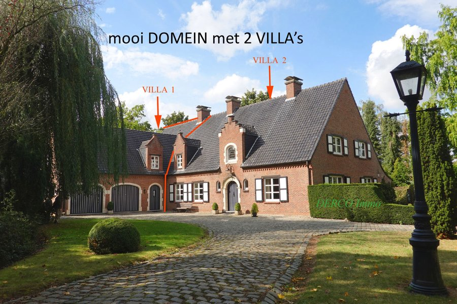 beautiful DOMAIN with 2 VILLA's - QUIET and DISCRETE location in the outskirts of LEUVEN